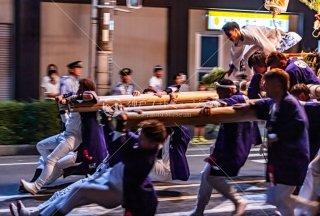 海神社秋祭 東高丸布団太鼓巡行 福田 令和元年