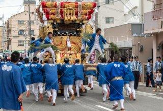 海神社秋祭 西垂水布団太鼓巡行 川原2丁目 令和元年