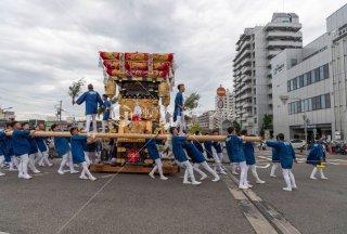 海神社秋祭 西垂水布団太鼓巡行 鈴木橋 レバンテ 令和元年