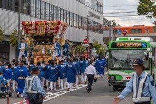 海神社秋祭 西垂水布団太鼓巡行 垂水区役所 令和元年