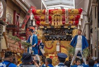 海神社秋祭 西垂水布団太鼓巡行 垂水センター街 令和元年