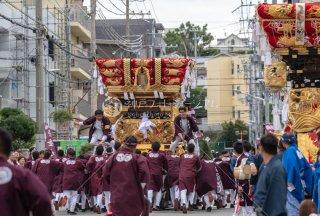 海神社秋祭 東垂水布団太鼓巡行 坂上 令和元年
