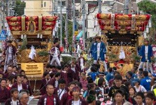 海神社秋祭 東垂水布団太鼓巡行 西垂水布団太鼓 坂上 令和元年