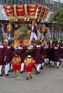 海神社秋祭 東垂水布団太鼓巡行 垂水区役所 令和元年