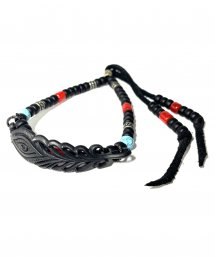 BLACK HONEY CHILI COOKIE(ブラックハニーチリクッキー)Peacock Feather Beads Bracelet