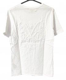 Bennu(ベンヌ)バック刺繍ルーズクルーネックTシャツ / ホワイト