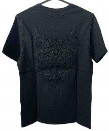Bennu(ベンヌ)バック刺繍ルーズクルーネックTシャツ / ブラック