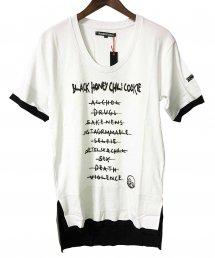 BLACK HONEY CHILI COOKIE(ブラックハニーチリクッキー)B.H.C.C Cord Tee 【White】