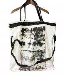 KMRii(ケムリ)Leather Combi 2way Tote/ Daydream【WHITE】