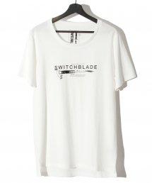 SWITCHBLADE (スイッチブレード) KNIFE&LOGO TEE 【WHITE】