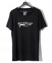 SWITCHBLADE (スイッチブレード) KNIFE&LOGO TEE 【BLACK】