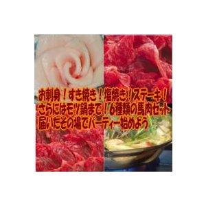 馬刺し 馬肉 熊本 馬刺し屋 5種バラエティーセット モツ鍋用ホルモン付き