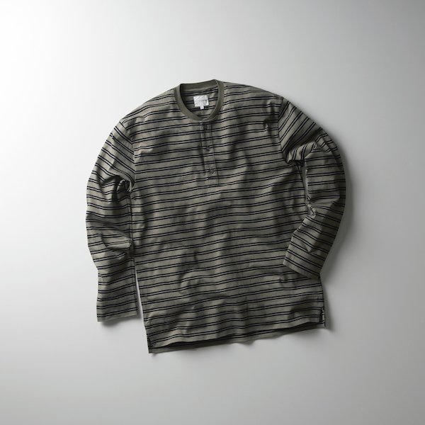 "CURLY/PROSPECT LS 3B HENLEY TEE""Border"""