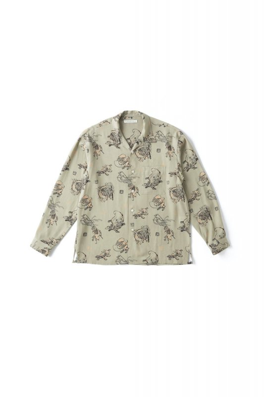 <img class='new_mark_img1' src='https://img.shop-pro.jp/img/new/icons1.gif' style='border:none;display:inline;margin:0px;padding:0px;width:auto;' />OLD JOE/ORIGINAL PRINTED OPEN COLLAR SHIRTS (YOUKAI) Long-sleeve -