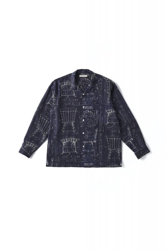 <img class='new_mark_img1' src='https://img.shop-pro.jp/img/new/icons1.gif' style='border:none;display:inline;margin:0px;padding:0px;width:auto;' />OLD JOE/ORIGINAL PRINTED OPEN COLLAR SHIRTS (BLUE PRINT) Long-sleeve