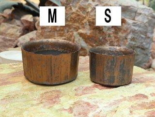 雷釉面取り鉢(黄金)