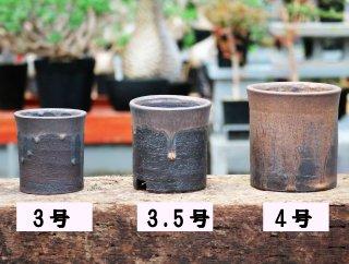 かみ山陶器 金彩寸胴