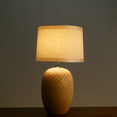 Vintage Table Lamp / Potterly Vase