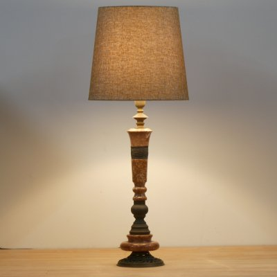 Vintage Table Lamp/Marble Vase