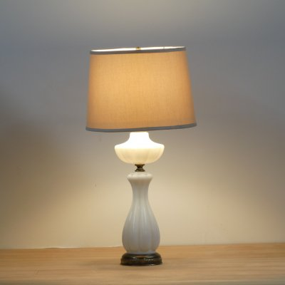 Vintage Table Lamp/Milk Glass