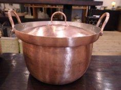 北村一男 鎚起銅器 段付鍋深型 6寸