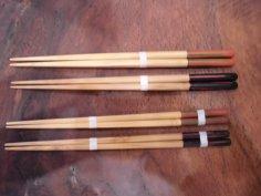 竹 研ぎ出し丸箸 黒大