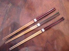 ダイヤカット 竹箸 赤