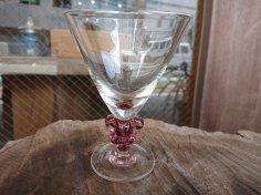 谷道和博 葡萄房足ワイングラス(薄葡萄)
