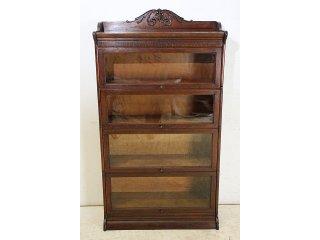 bk-18 1920年代 イギリス製 アンティーク オーク スタッキングブックケース 本棚 書棚 本箱