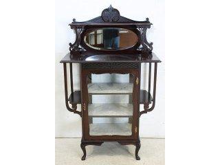 ce-2 1890年代 イギリス製 アンティーク ヴィクトリアン マホガニー ビクトリアン スモール エンパイヤキャビネット