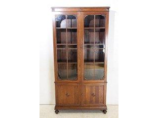 bk-12 1930年代 イギリス製 アンティーク オーク ロングトール ブックケース 本棚 書棚