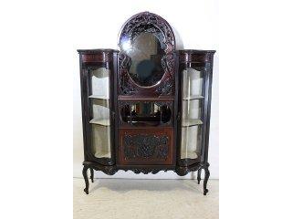 ce-39 1870年代 イギリス製 アンティーク ビクトリアン マホガニー ミラーバック エンパイヤキャビネット