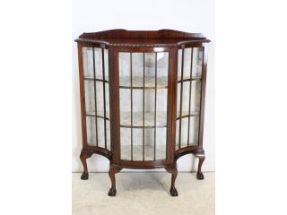 ce-65 1890年代イギリス製アンティーク ヴィクトリアン マホガニー チッペンデールスタイル キャビネット