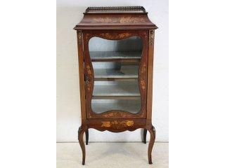 ce-31 1890年代 イギリス製 アンティーク ヴィクトリアン マホガニー ルイ15世スタイル インレイド ミュージックキャビネット