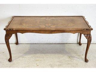 st-7 1970年代 イギリス製 ビンテージ ウォルナット 猫脚 センターテーブル ソファテーブル