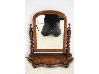 mr-12 1890年代 イギリス製 アンティーク ビクトリアン ウォルナット テーブルミラー 卓上鏡