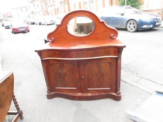 sb-6 1890年代 イギリス製 アンティーク ビクトリアン マホガニー ミラーバック サイドボード  バッフェ