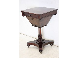 sx-3 1890年代 イギリス製 アンティーク ビクトリアン マホガニー ソーイングボックス 裁縫箱