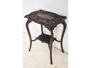 cd-16 1890年代イギリス製アンティーク ビクトリアン オーク カーブド サイドテーブル オケージョナルテーブル