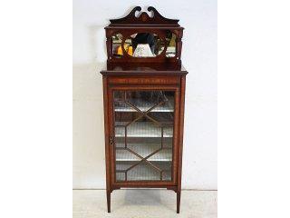 ce-109 1890年代 イギリス製 アンティーク ビクトリアン マホガニー ミラーバック ミュージックキャビネット
