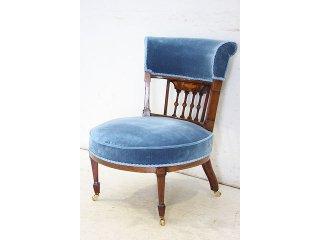 sc-9 1880年代 イギリス製 アンティーク ビクトリアン ウォルナット ナーシングチェア 椅子