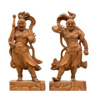欅金剛力士立像(仁王像) 総高さ30cm