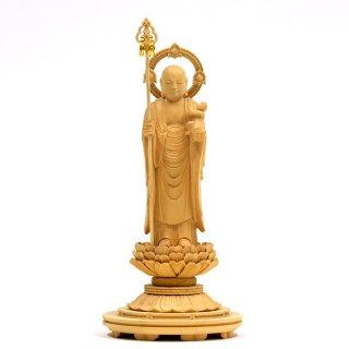 【子安地蔵菩薩】(子育地蔵菩薩・水子地蔵菩薩) 柘植(ツゲ) 立3.0寸 総高18cm