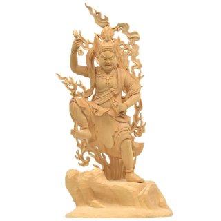 桧木蔵王権現像 上彫立8.0寸総高43cm (金剛蔵王権現・金剛蔵王菩薩)