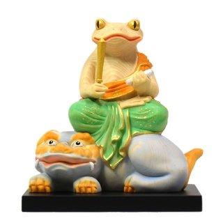 桧木蛙仏干支お守り本尊−【文殊菩薩】 「卯」