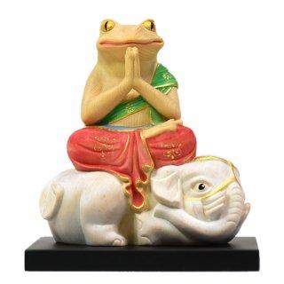 桧木蛙仏干支お守り本尊−【普賢菩薩】 「辰・巳」