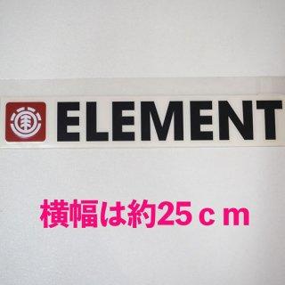 エレメント ステッカー【ELEMENT】横長カットタイプ