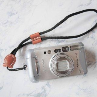 【新品】カメラハンドリストストラップ ブラック×ブラウン《カメラ・レンズと同時購入で送料無料》