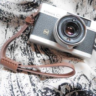 【新品】レザーカメラハンドリストストラップ ブラウン《カメラ・レンズと同時購入で送料無料》
