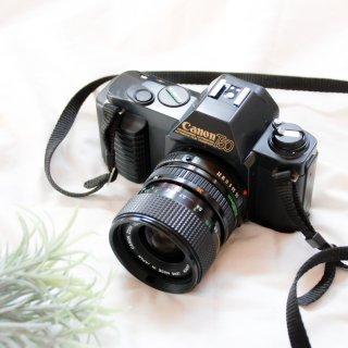 【C】CANON T50+ズームレンズ付き( New FD 35-70mm F3.5-4.5) [実写済み][ 使い方がわかる ]